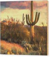 Sonoran Desert Morn Wood Print