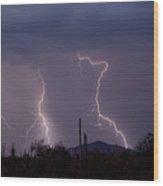 Sonoran Storm Wood Print