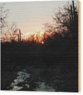 Sonoran Sundown Wood Print