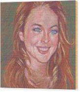 Sonrisa Sutil Wood Print