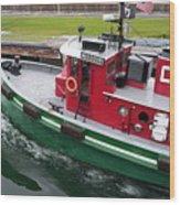 Soo Tug Boat Wood Print
