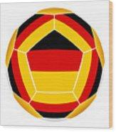 Soocer Ball With Germany Flag Wood Print