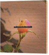 Soon A Beauty #b3 Greetingcard To A New Born Wood Print
