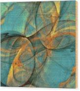 Soothing Blue Wood Print