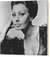 Sophia Loren, In Costume For Arabesque Wood Print