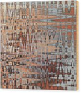 Sophisticated - Abstract Art Wood Print