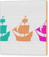 Sorbet Ships Wood Print