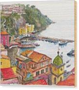 Sorrento Harbour Wood Print