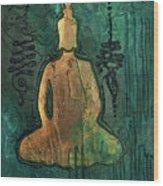 Sotapanna 1 Buddha Painting With Unalome Symbols Wood Print
