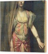 Soudja Sari Wood Print by Gaston Casimir Saint Pierre