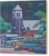Soufriere Church Tower Wood Print
