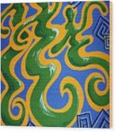 Soul Figures 4 Wood Print