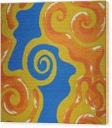 Soul Figures 5 Wood Print