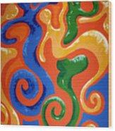 Soul Figures 7 Wood Print