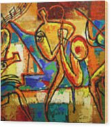 Soul Jazz Wood Print