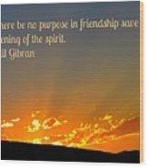 Soulful Friends Wood Print