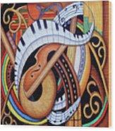 Sound Of Soul Strings Wood Print