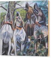 Sound Of The Hound Wood Print
