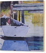 Sound Side Dock Wood Print