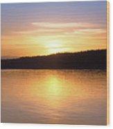 Sound Sunset Wood Print