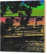 Soundside Treehouse View Wood Print