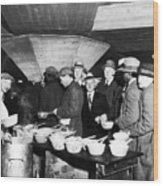 Soup Kitchen, 1931 Wood Print