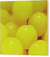 Sour Lemon Candies Wood Print