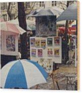 Sous La Parapluie Wood Print