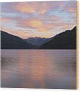 South Argentina Villarino Lake Wood Print