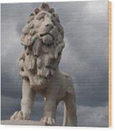 South Bank Lion.  Wood Print