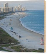 South Beach At Its Best Wood Print