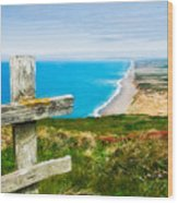 South Beach At Point Reyes Wood Print