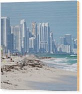 South Beach Baby Wood Print