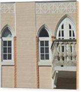 South Beach Balcony Wood Print