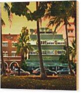 South Beach Ocean Drive Wood Print