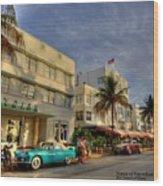 South Beach Park Central Hotel Wood Print