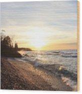 South Beach Sunset Wood Print