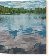 South Boundary Lake Reflections Wood Print