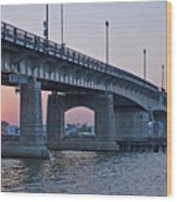 South Capitol Street Bridge Over Anacostia River In Washington Dc Wood Print by Brendan Reals