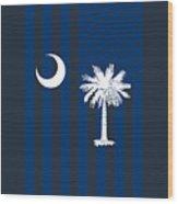 South Carolina State Flag Graphic Usa Styling Wood Print