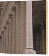 South Carolina State House Columns  Wood Print