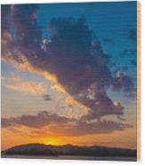 South China Sea Sunset Wood Print