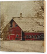 South Dakota Barn Wood Print