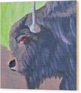 South Dakota Bison Wood Print