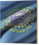 South Dakota State Flag Wood Print