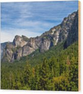 South End Of Half Dome Wood Print