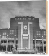 South End Zone Lambeau Field Wood Print