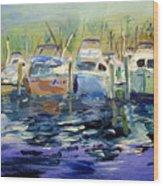 South Harbor Dawn Wood Print