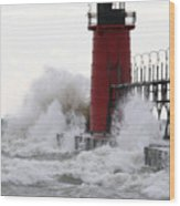 South Haven Lighthouse 3 Wood Print
