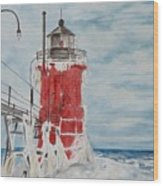 South Haven Lighthouse, South Have, Michigan  Wood Print